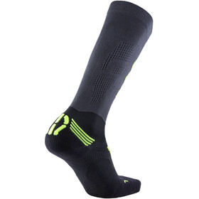 UYN Run Compression Fly Socks Men Anthracite/Yellow Fluo